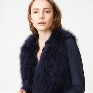 Club Monaco Navy feather vest